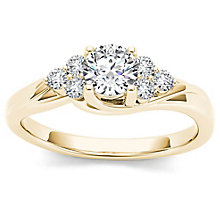 The Diamond Story 18ct Yellow Gold 0.50ct Diamond Ring - Product number 6937462