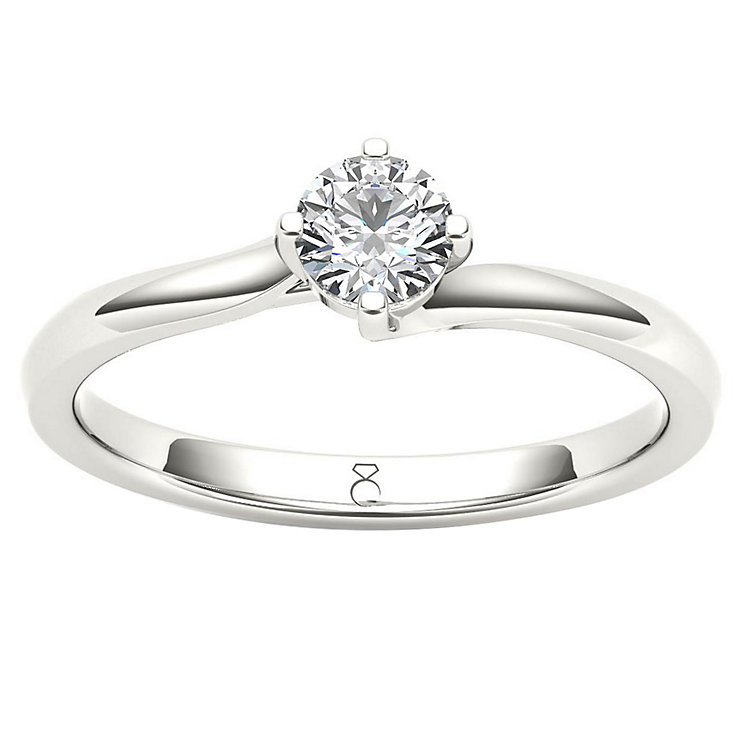 The Diamond Story Platinum 0.25ct Solitaire Ring - Product number 6937985