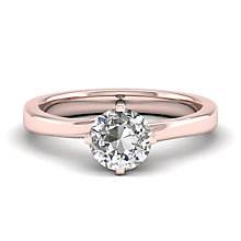The Diamond Story 18ct Rose Gold 0.25ct Solitaire Ring - Product number 6938116