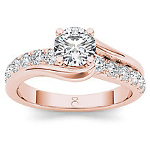 The Diamond Story 18ct Rose Gold 1ct Diamond Crossover Ring - Product number 6938507