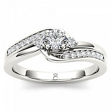 The Diamond Story Platinum 0.33ct Diamond Ring - Product number 6938779