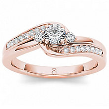 The Diamond Story 18ct Rose Gold 0.33ct Diamond Ring - Product number 6938906