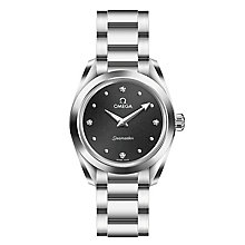 Omega Seamaster Aqua Terra Ladies' Black Bracelet Watch - Product number 6939600