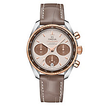 Omega Speedmaster 38 Ladies' 18ct Rose Gold Strap Watch - Product number 6939678