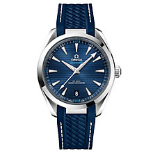 Omega Sea Master Aqua Terra Men's 41mm Blue Strap Watch - Product number 6939902
