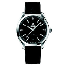 Omega Sea Master Aqua Terra Men's 41mm Black Strap Watch - Product number 6939937
