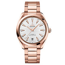 Omega Sea Master Aqua Terra Men's 18ct Rose Gold Strap Watch - Product number 6940013