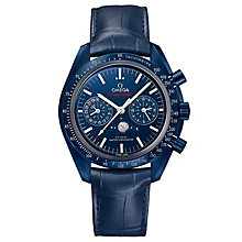 Omega Men's Aqua Terra Blue Moonphase Strap Watch - Product number 6940056