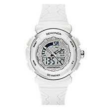 Sekonda Ladies' White Strap Digital Watch - Product number 6944558