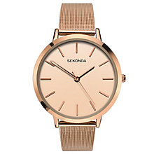 Sekonda Editions Ladies' Rose Gold Mesh Bracelet Watch - Product number 6944825