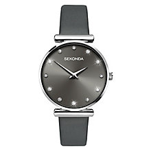 Sekonda Ladies' Crystal Grey Leather Strap Watch - Product number 6944949