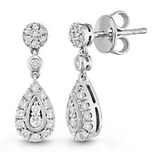 Neil Lane Designs Platinum 0.45ct Diamond Earrings - Product number 6945376