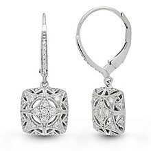Neil Lane Designs 14ct White Gold 0.19ct Vintage Earrings - Product number 6945384