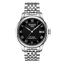 Tissot Men's Le Locle Black Stainless Steel Bracelet Watch - Product number 6952887
