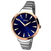 Seksy Ladies' Silver & Rose Gold Bracelet Watch RRP £89.99 - Product number 6954367