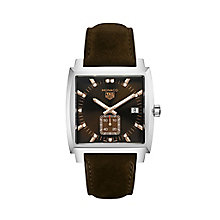 TAG Heuer Monaco Ladies' Stainless Steel Brown Strap Watch - Product number 6956157