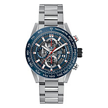 TAG Heuer Carrera Men's Stainless Steel Blue Bracelet Watch - Product number 6956335