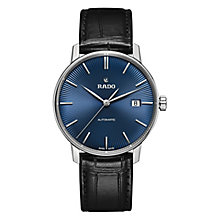 Rado Coupole Classic Men's Stainless Steel Black Strap Watch - Product number 6956688