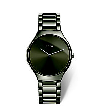 Rado True Thinline Men's Grey Ceramic Bracelet Watch - Product number 6956777