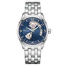 Hamilton Jazzmaster Open Heart Men's Blue Bracelet Watch - Product number 6956939