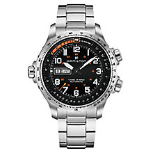 Hamilton Khaki X Men's Stainless Steel Black Bracelet Watch - Product number 6957005