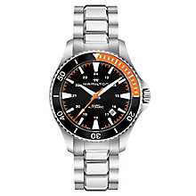 Hamilton Khaki Scuba Men's Black Stainless Steel Watch - Product number 6957021