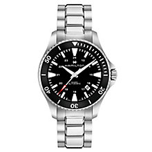 Hamilton Khaki Scuba Auto Men's Black Bracelet Watch - Product number 6957056