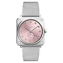 Bell & Ross BRS Ladies' Pink Stainless Steel Bracelet Watch - Product number 6957099
