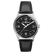 Bell & Ross BRV192 Men's Stainless Steel Black Strap Watch - Product number 6957137