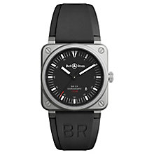 Bell & Ross BR392 Men's Stainless Steel Black Strap Watch - Product number 6957277