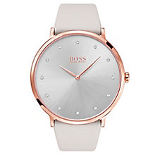 Hugo Boss Jillian Rose Gold Plated Stone Set Strap Watch - Product number 6957323