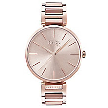Hugo Boss Allusion Ladies' Rose Gold Plated Bracelet Watch - Product number 6957366