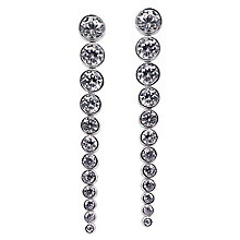 Carat Quentin Sterling Silver Drop Earrings - Product number 6957595