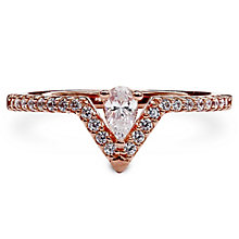 Carat Victoria Rose Gold Plated Silver Ring Size L - Product number 6957803