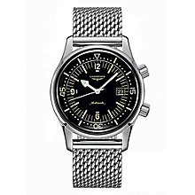Longines Men's Heritage Black Sterling Silver Bracelet Watch - Product number 6959261