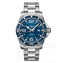 Longines Men's Silver Hydroconquest Blue Bracelet Watch - Product number 6959385