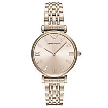 Emporio Armani Gianni Ladies' Rose Gold Tone Bracelet Watch - Product number 6988253
