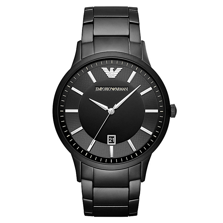 Emporio Armani Men's Ion Plated Black Bracelet Watch - Product number 6988369