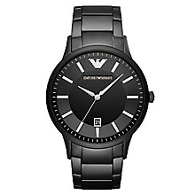 Emporio Armani Renato Men's Ion Plated Black Bracelet Watch - Product number 6988369
