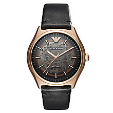 Emporio Armani Zeta Mecanico Men's Rose Gold Tone Watch - Product number 6988385