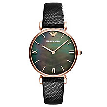 Emporio Armani Gianni Ladies' Rose Gold Tone Strap Watch - Product number 6988407