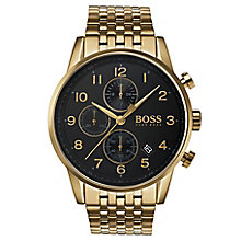 Hugo Boss Navigator Men's Gold Plated Chronograph Watch - Product number 6988601