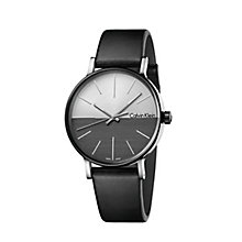 Calvin Klein Men's Black Leather Strap Watch - Product number 8000050
