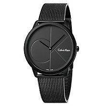 Calvin Klein Men's Black Ion Plated Mesh Bracelet Watch - Product number 8000069