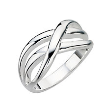 Sterling Silver Weave Ring - Size L - Product number 8000972