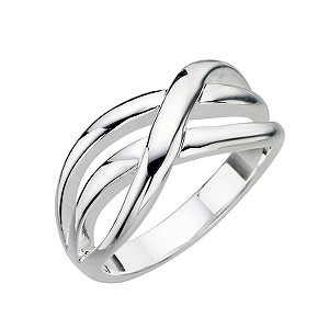 Sterling Silver Weave Ring - Size P