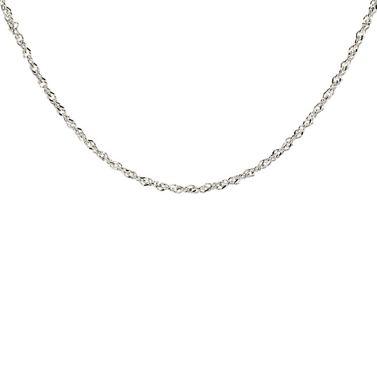 "Sterling Silver 18"" Singapore Chain - Product number 8001316"