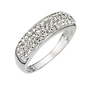 Sterling Silver Crystal Set Ring - Size N - Product number 8001332