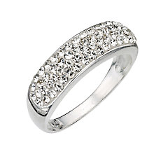 Sterling Silver Crystal Set Ring - Size P - Product number 8001340