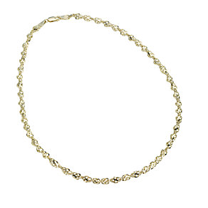 "9ct gold 18"" cut out twist chain - Product number 8001804"